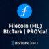 BtcTurk, BtcTurk | PRO'da Filecoin (FIL)'i listeledi